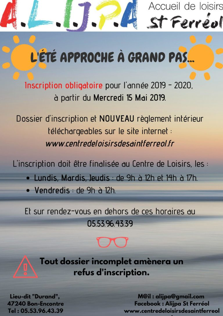 Inscription 2019-2020